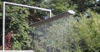 Gartendusche CROSS aus Edelstahl handgefertigt in Deutschland